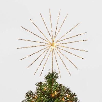 14in 70Lit Twinkling Starburst Spikes Tree Topper - Wondershop™