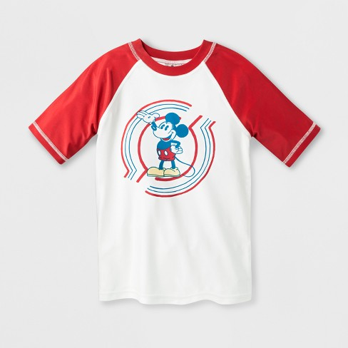 160330e24d Junk Food Boys' Disney Mickey Mouse Rash Guard - Ivory/Red : Target