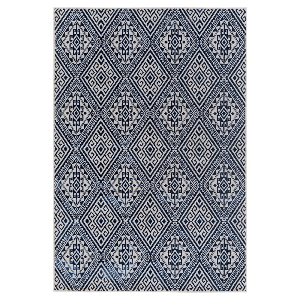 Violet (Purple) Abstract Tufted Area Rug - (5'3