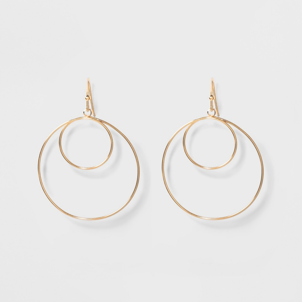 Two Circles Small Hoop Earrings - A New Day Gold