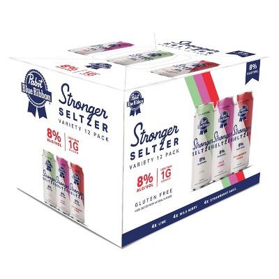 Pabst Blue Ribbon Stronger Seltzer Variety Pack - 12pk/12 fl oz Slim Cans