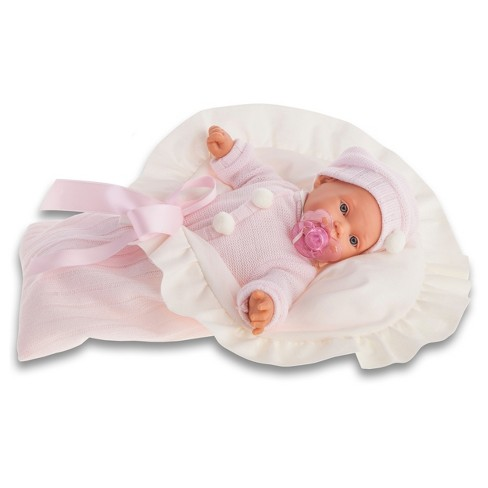 "Antonio Juan Kikos 11"" Baby Doll With Crying Feature - Pink - image 1 of 1"