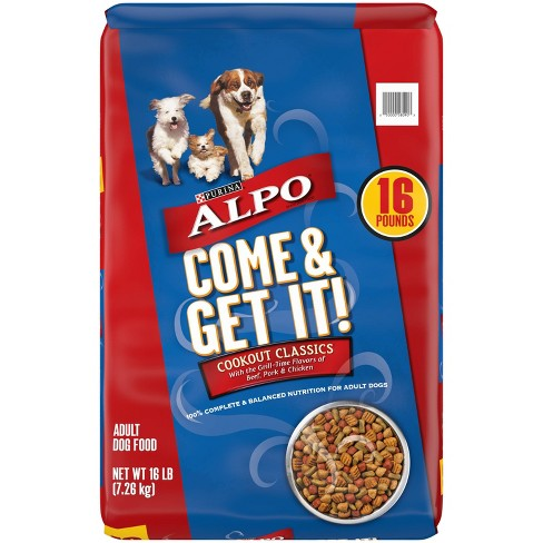 Purina Alpo Come & Get It! Cookout Classics With Beef, Pork & Chicken Flavors Adult Complete & Balanced Dry Dog Food - image 1 of 4