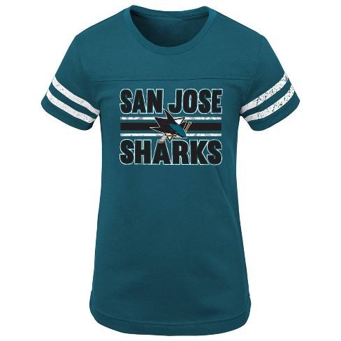 NHL San Jose Sharks Girls' Netminder Fashion T-Shirt - image 1 of 1