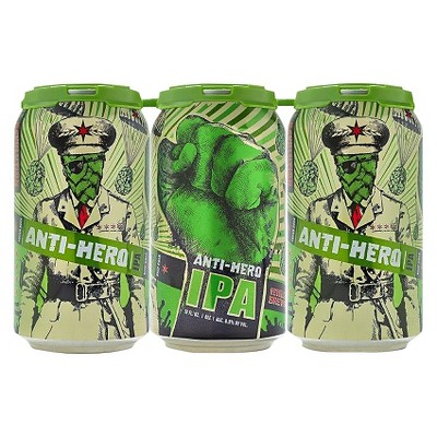 Revolution Anti-Hero IPA Beer - 6pk/12 fl oz Cans