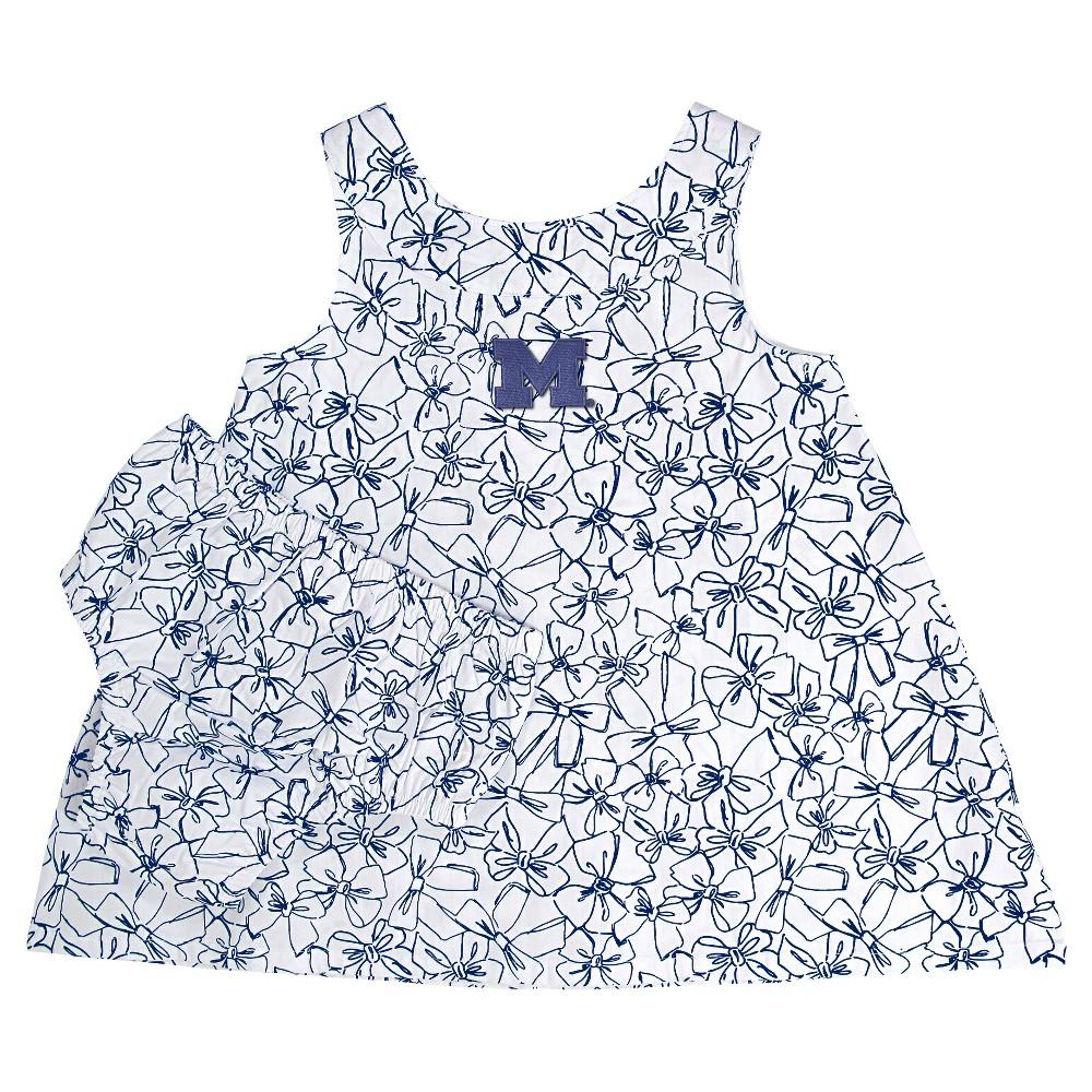 NCAA Michigan Wolverines Girls' Infant Dress - 12 M, Size: 12M, Blue