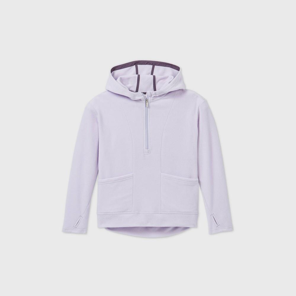 Girls 39 Fleece 1 4 Zip Sweatshirt All In Motion 8482 Lilac S
