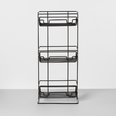 3 Tier Round Wire Shower Storage Tower Black - Made By Design™