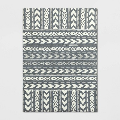 5'X7' Geometric Woven Area Rug Gray - Threshold™