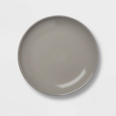 "Dinner Plate Coupe Gray 10""x10"" - Project 62™"