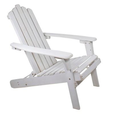 "Northlight 36"" White Classic Folding Wooden Adirondack Chair"