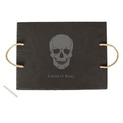 Halloween Skull Slate Serving Tray