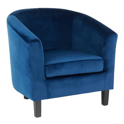 Claudia Contemporary Accent Chair Blue Velvet - LumiSource