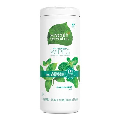 Seventh Generation Garden Mint Scented Multi Purpose Wipes - 37ct