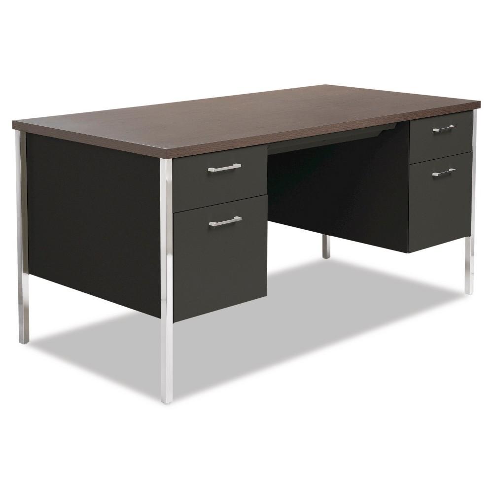 Executive Desk Alera Walnut (Brown) Black