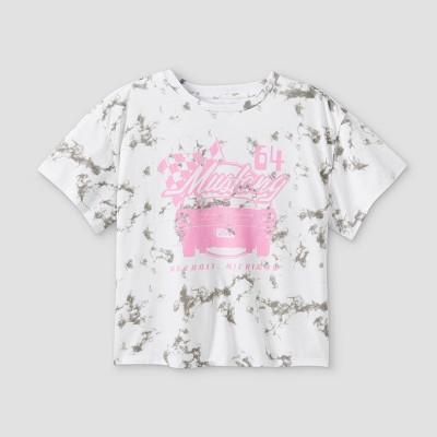 Girls' Mustang Graphic Short Sleeve T-Shirt - art class™ White