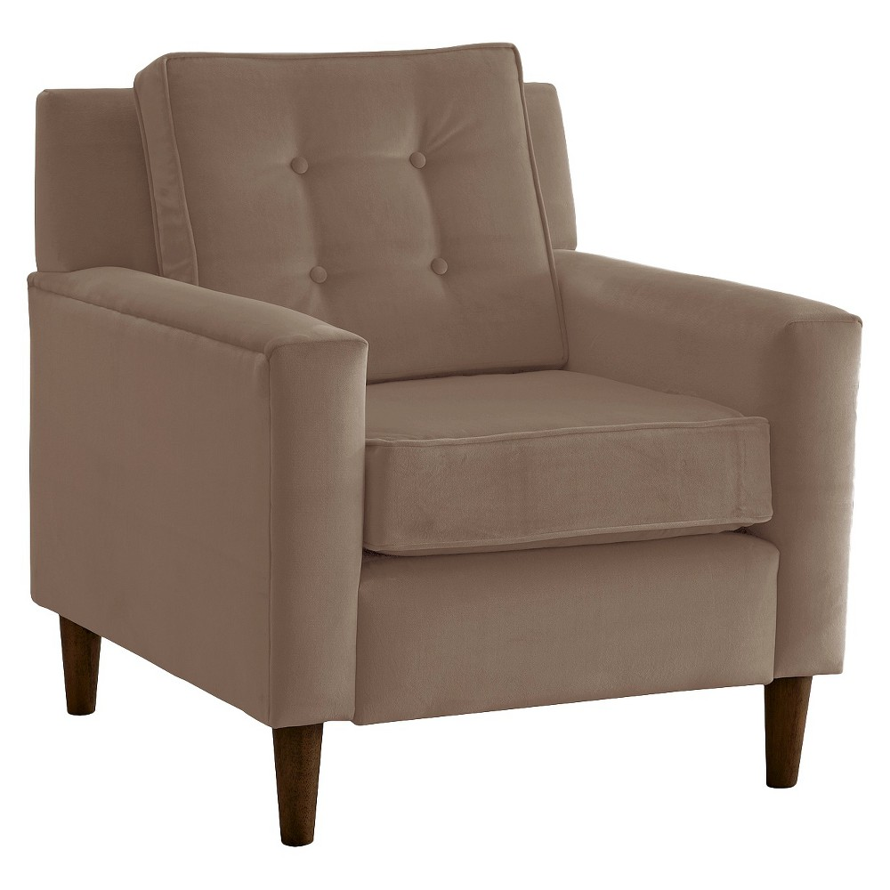 Skyline Custom Upholstered Arm Chair - Skyline Furniture, Velvet Cocoa