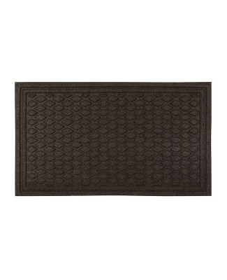 "1'6""X2'6"" Diamond Tufted Door Mat Dark Brown - Apache Mills"