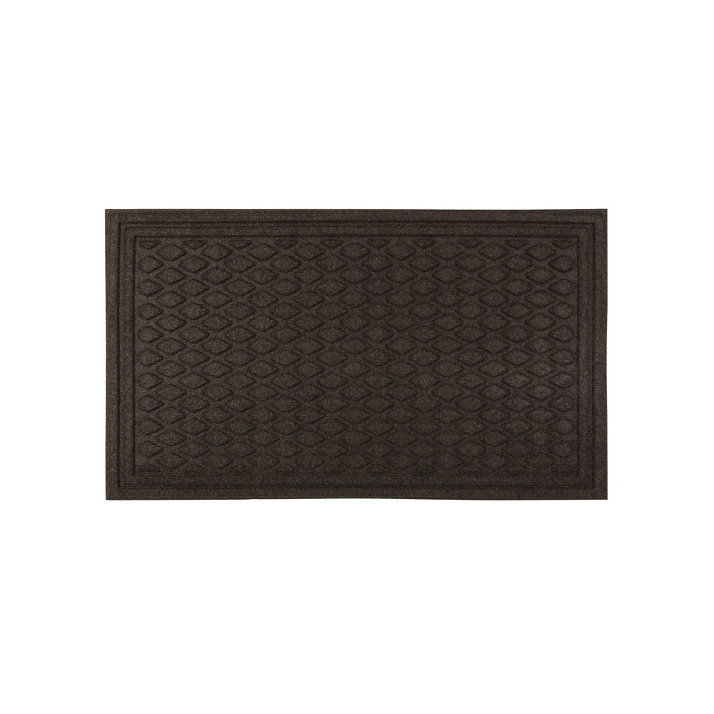 "Image of ""Dark Brown Diamond Tufted Door Mat 1'6""""x2'6"""" - Apache Mills"""