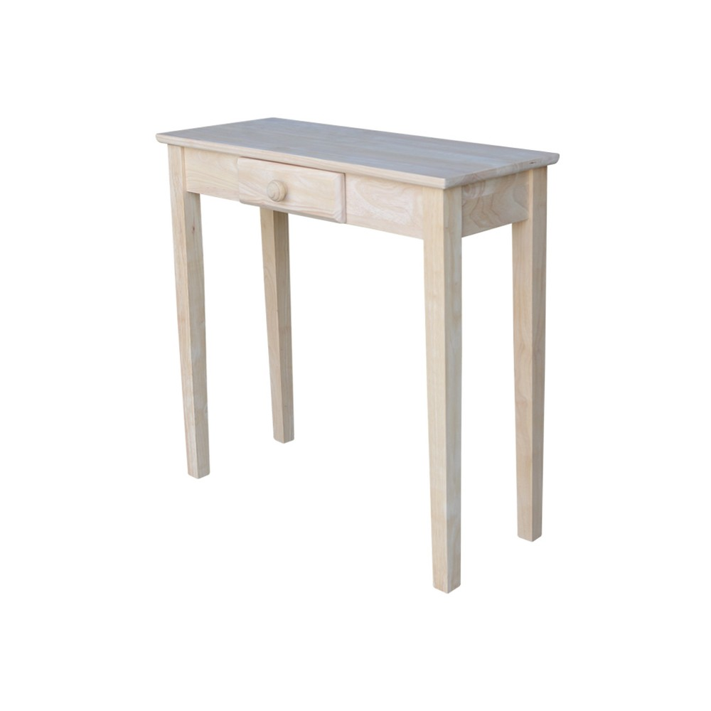 Image of Mission Console Table Unfinished - International Concepts, Brown