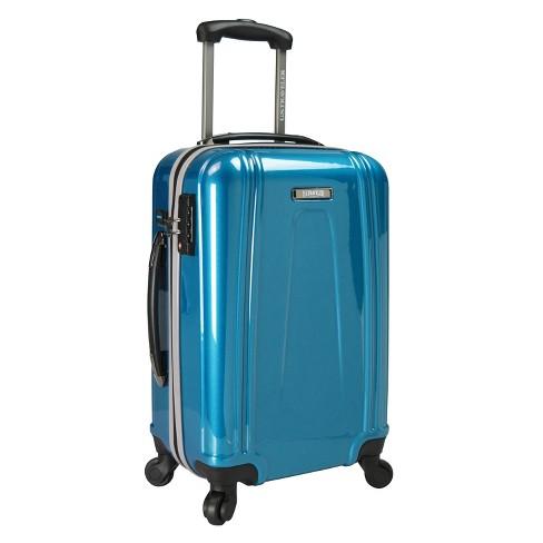 "U.S. Traveler 22"" USB Port EZ-Charge Suitcase - Teal - image 1 of 3"