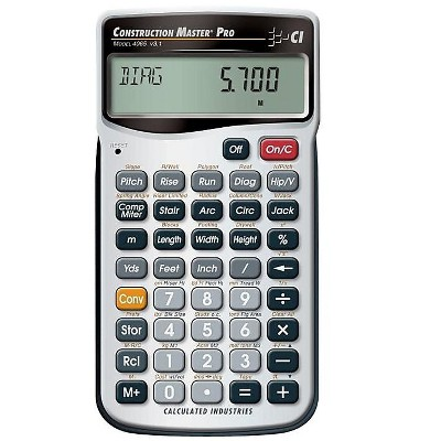 Calculated Industries Construction Master Pro III Series 4065 11-Digit Construction Calculator