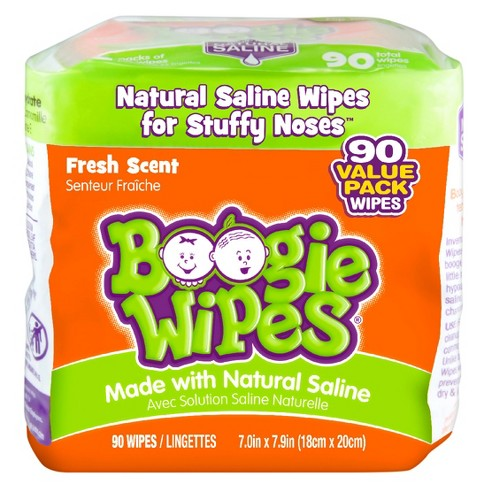 Boogie Wipes Saline Nose Wipes Fresh Scent - 90ct - image 1 of 3