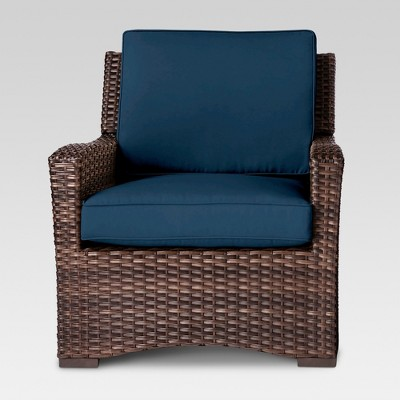 Halsted All Weather Wicker Patio Club Chair Navy - Threshold™
