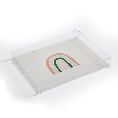 Hello Twiggs Pink Rainbow Acrylic Tray - Deny Designs