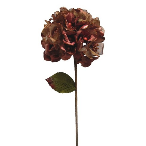 "Vickerman 29"" Chocolate Velvet Hydrangea Artificial Christmas Pick - image 1 of 2"