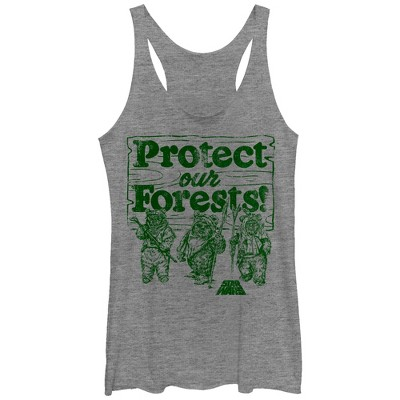 Women's Star Wars Ewok Protect Our Forests Racerback Tank Top
