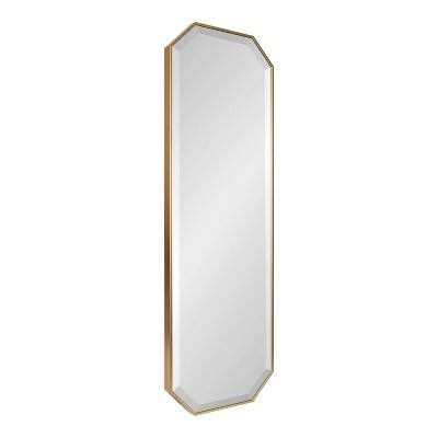 "16"" x 48"" Rhodes Full Length Wall Mirror Gold - Kate & Laurel All Things Decor"