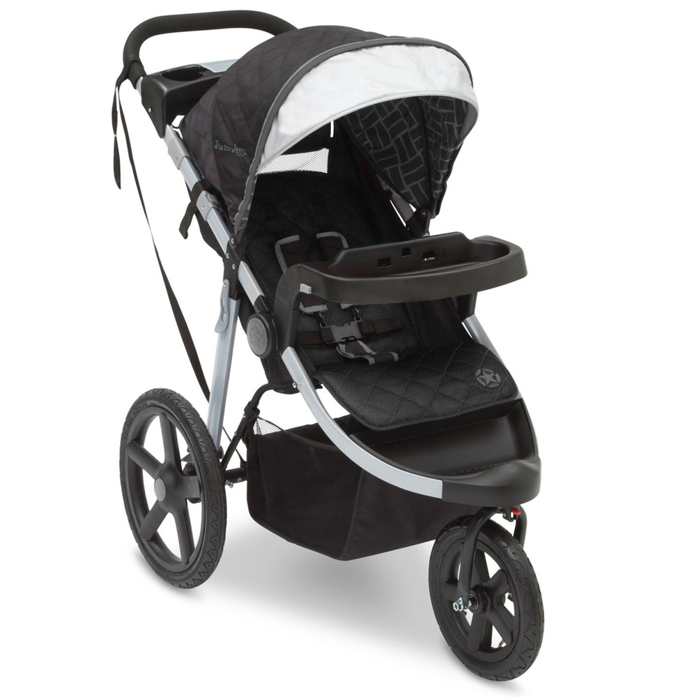 Image of Jeep Adventure All-Terrain Jogger Stroller - Charcoal Tracks, Grey Tracks