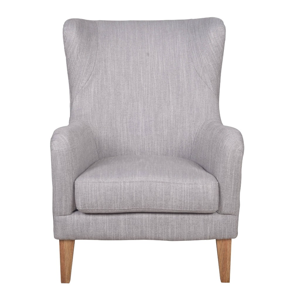 Image of Bolton Club Chair Linen Gray - Keswick