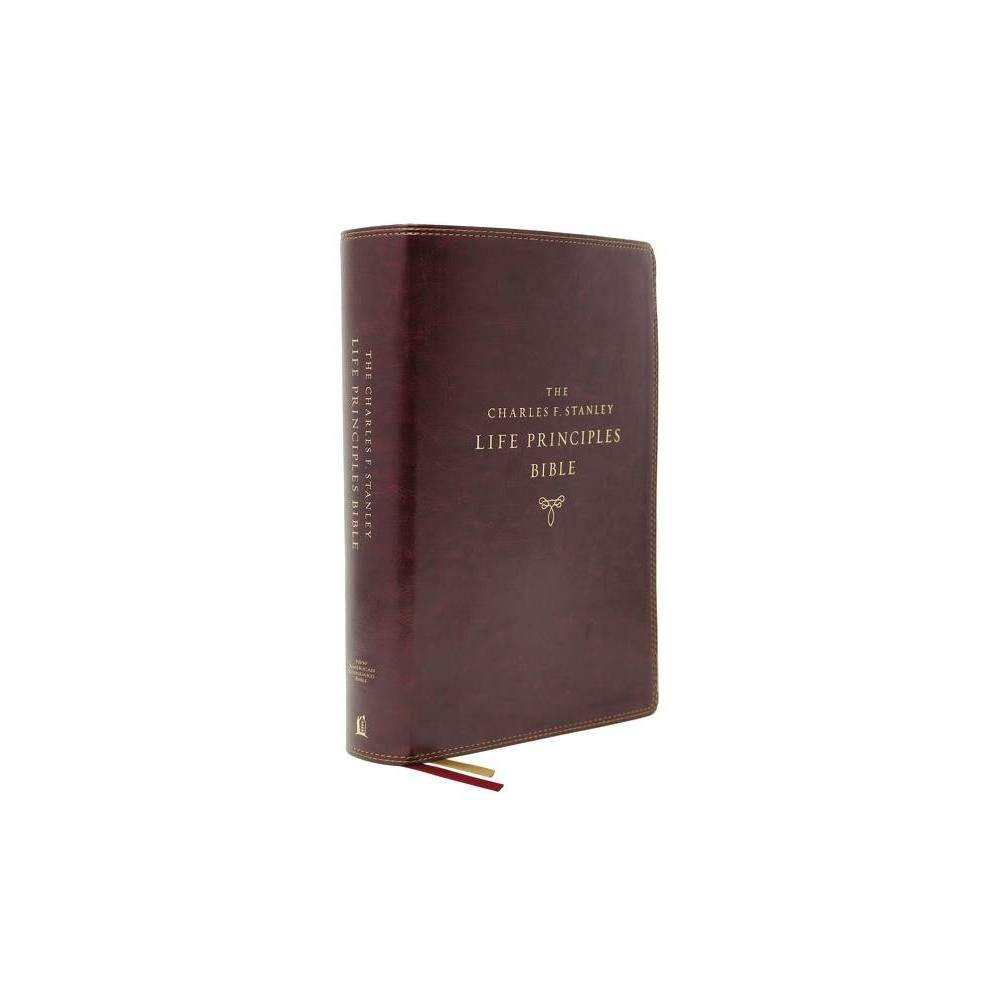 Nasb Charles F Stanley Life Principles Bible 2nd Edition Leathersoft Burgundy Thumb Indexed Comfort Print By Thomas Nelson Leather Bound