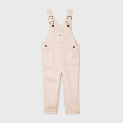 OshKosh B'gosh Toddler Girls' Heart Pocket Overalls - Light Pink 2T