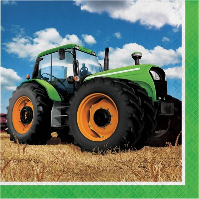 48ct Tractor Time Disposable Napkins