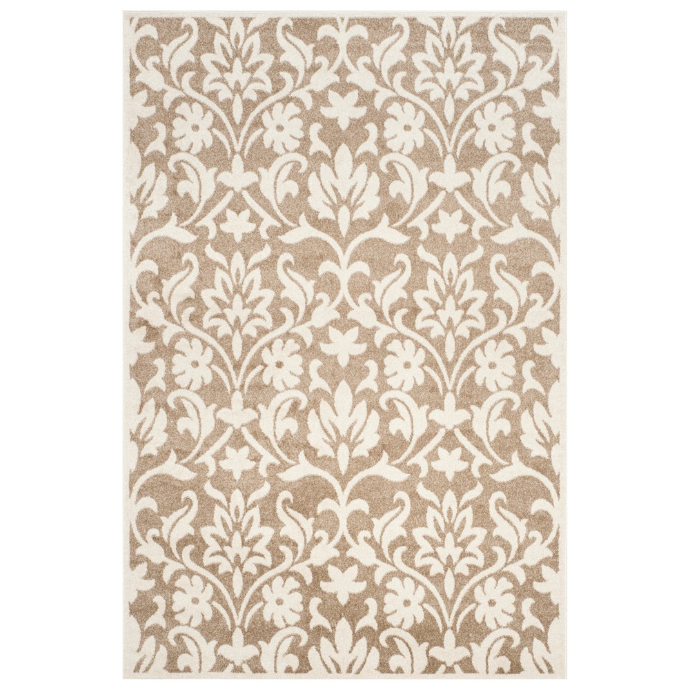Rectangle 6'x9' Outer Patio Rug - Wheat/Beige - Safavieh, Brown