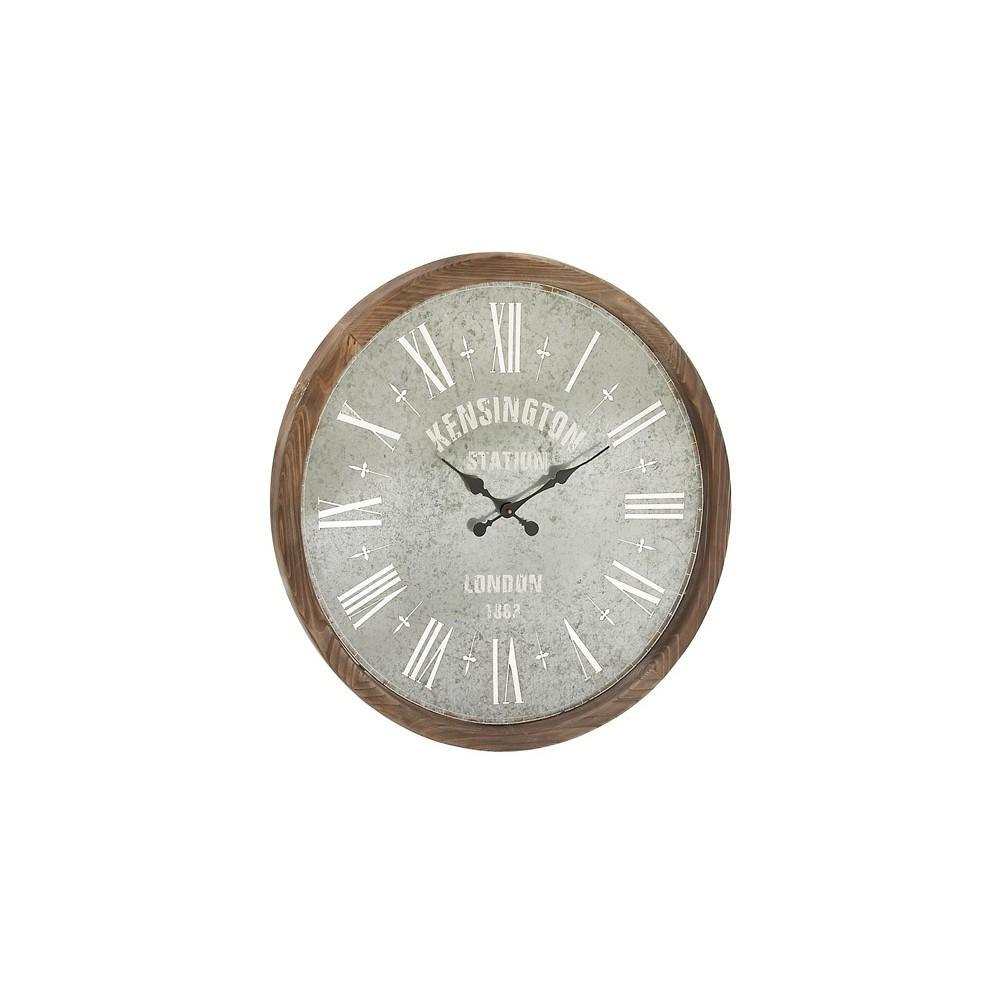 Vintage Metal Wall Clock 32 Diameter - Olivia & May