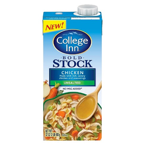 College Inn Bold Unsalted Chicken Stock 32 oz - image 1 of 1