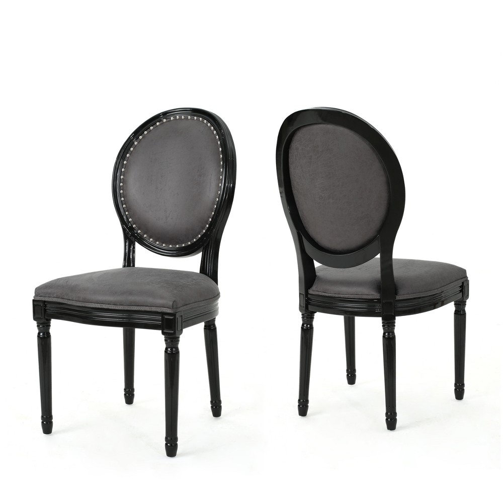 Set of 2 Leroy Traditional Dining Chairs Slate (Grey) Gray - Christopher Knight Home
