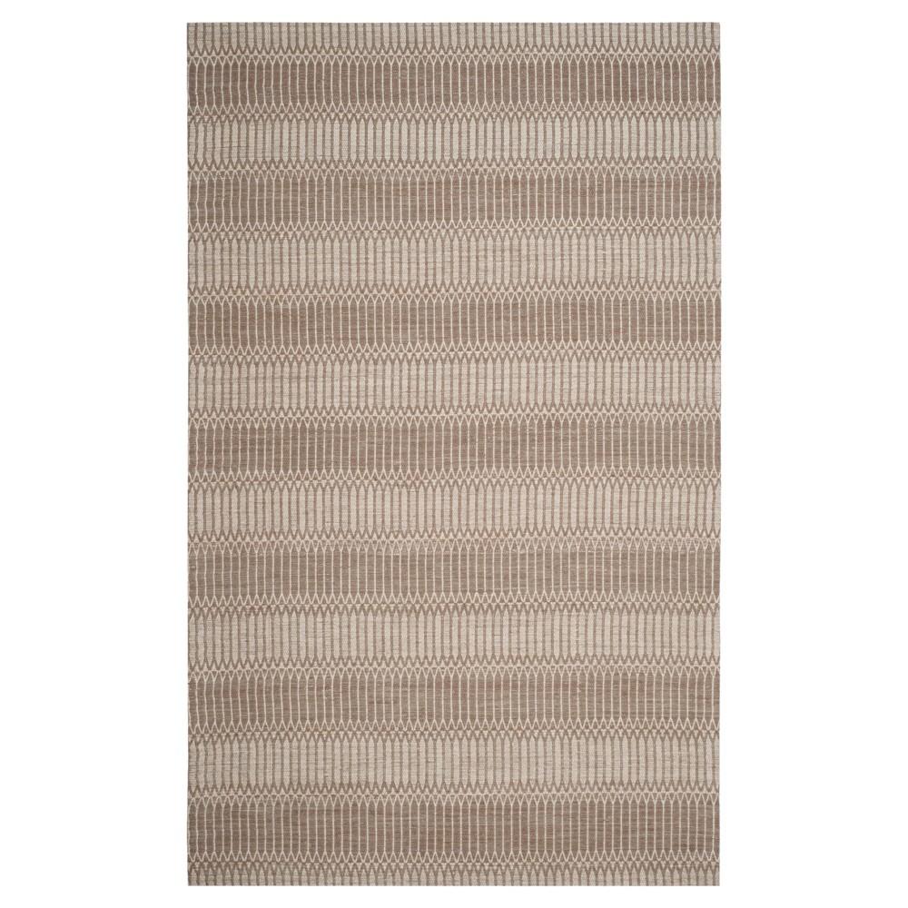 Brown Stripe Woven Area Rug 6'X9' - Safavieh