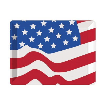 Flag Plastic Serving Tray