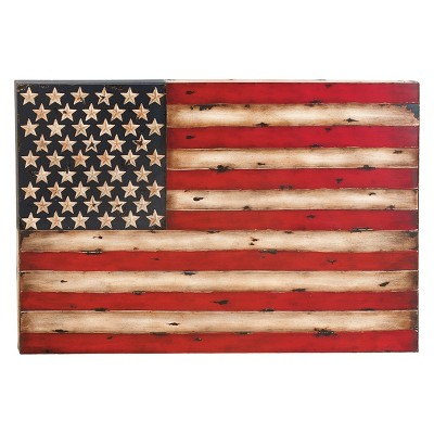 Metal Flag Decorative Wall Art 26 X 38 - Olivia & May