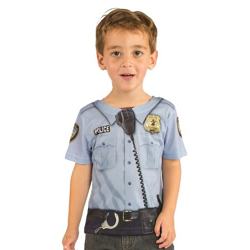 Boys' Baby/Toddler Policeman Tee Costume - image 1 of 1