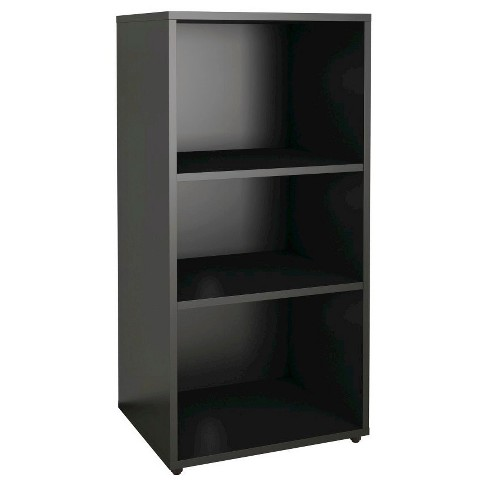 "Avenue Open Media Storage Unit Black 37"" - Nexera - image 1 of 4"