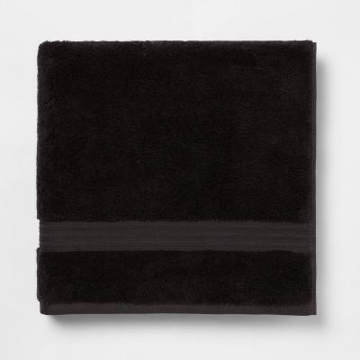 Antimicrobial Oversized Bath Towel Black - Total Fresh