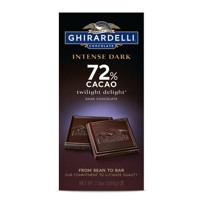 Ghirardelli Intense Dark 72% Cacao Chocolate Bar - 3.5oz