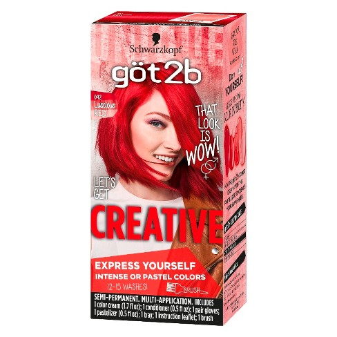 Got2b Color Creative Temporary Hair Color Pink Target