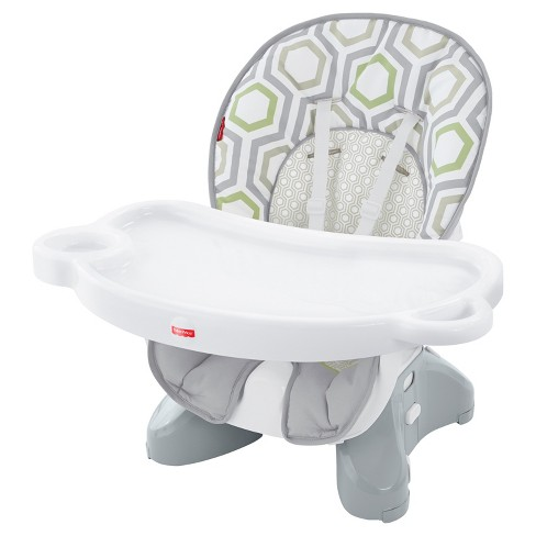 Fisher Price Baby Geometric Print Hook On High Chair Light Gray White Meadow Green Target